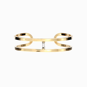 Crystal Stick Gold Bangle