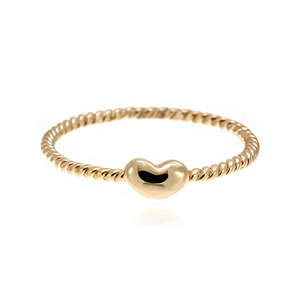 [마디반지]Gold Mini Heart Bean Knuckle Ring