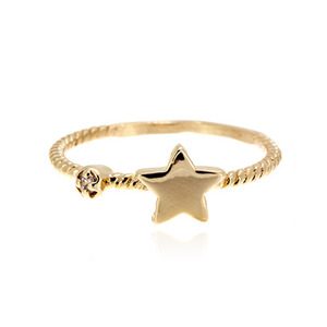 [마디반지]Gold Mini Star Knuckle Ring