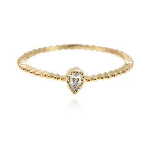 [마디반지]Gold Mini Drop Cz Knuckle Ring