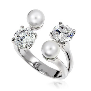 Pearl Cubic Ring DRCP001S