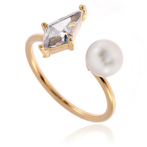 Pearl Cubic Ring DRCP006G