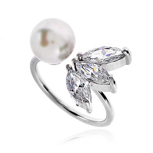 Pearl Cubic Ring DRCP009S