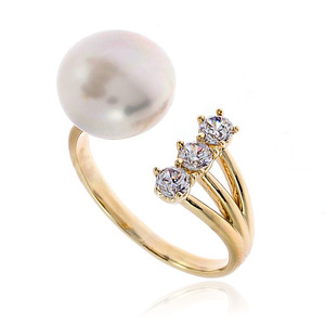 Pearl Cubic Ring DRCP010G