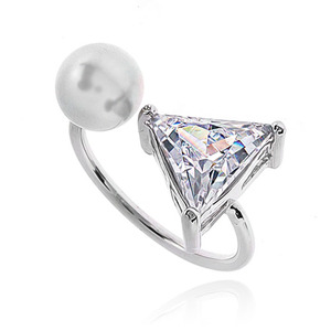 Pearl Cubic Ring DRCP012S